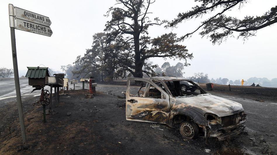 Zerstörung nach den Buschfeuern im Südwesten Australiens