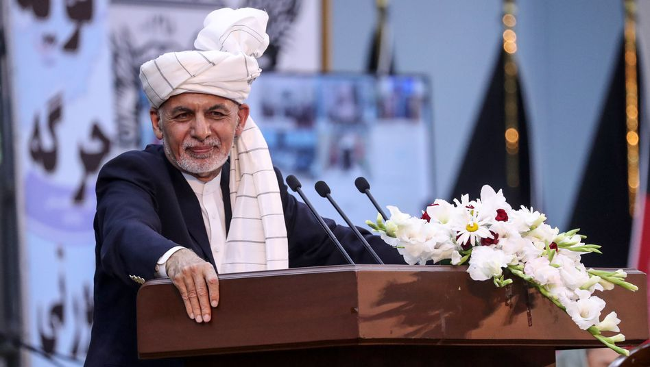 Afghanistans Präsident Aschraf Ghani bei der Ratsversammlung am Wochenende
