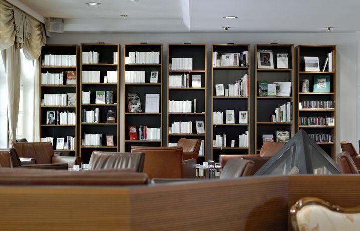 Bibliothek des Bibliotels Bad Weissbad, Schweiz