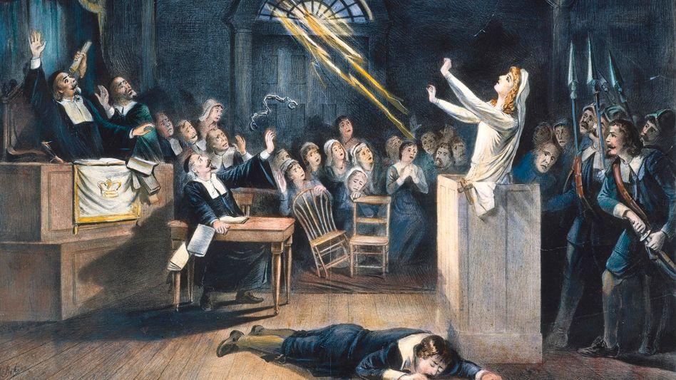 Hexenprozess in Salem (Darstellung aus dem 19. Jahrhundert): Dunkler Fleck auf der Weste der »Gründerväter«