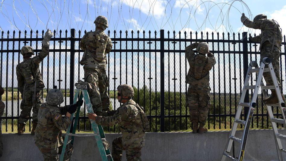 US-Soldaten an der Grenze zu Mexiko