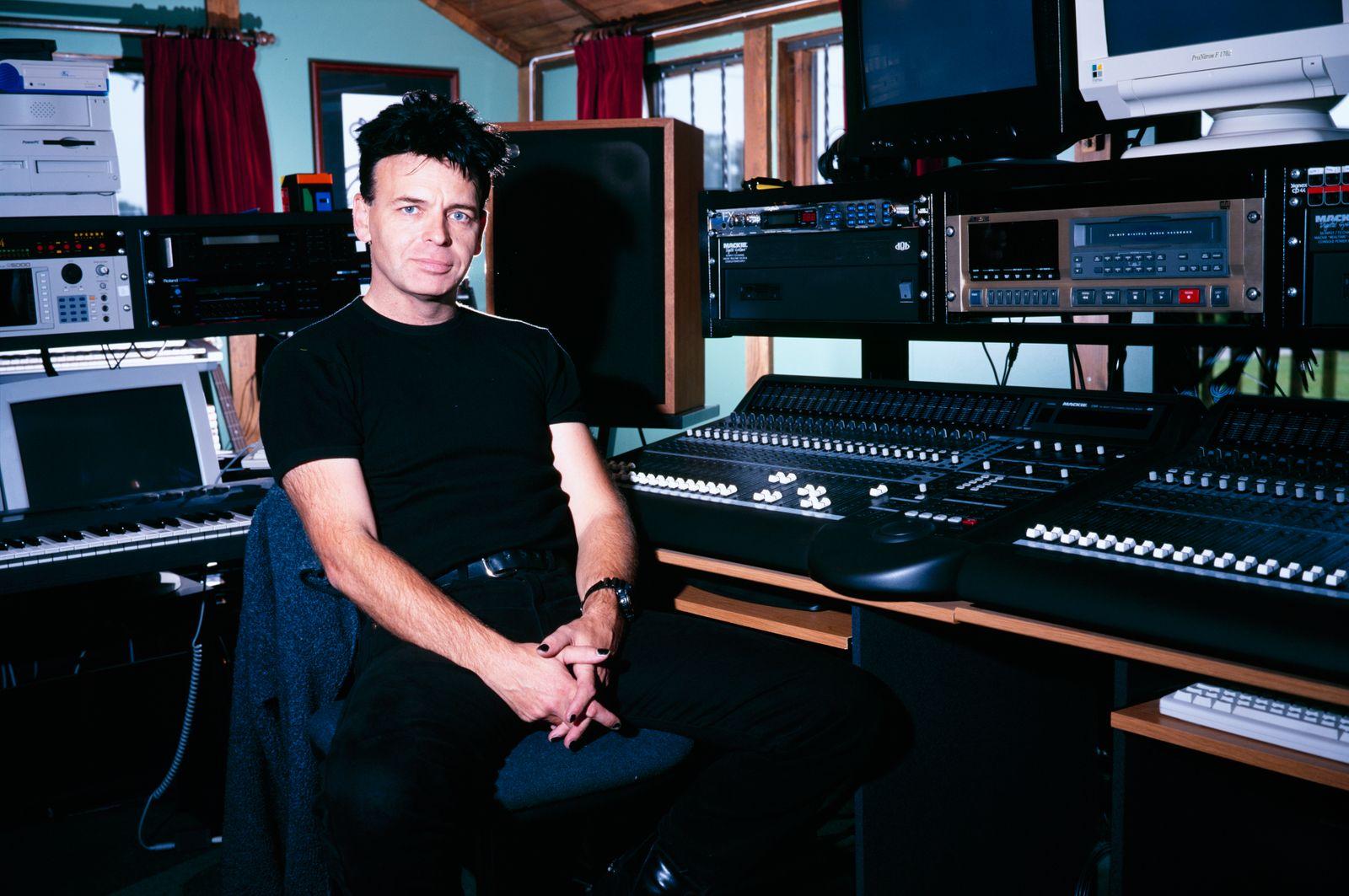 Gary Numan In Recording Studio