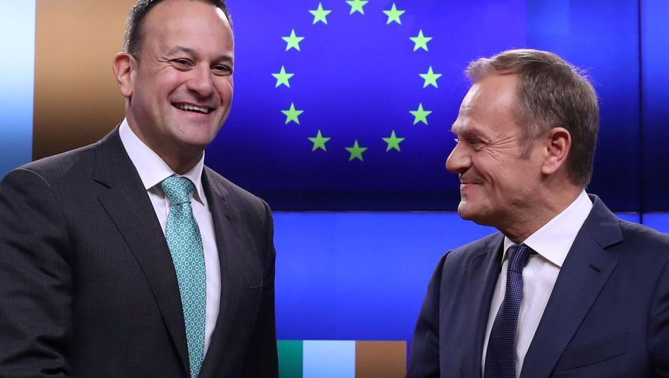 Irlands Premier Leo Varadkar, EU-Ratspräsident Donald Tusk