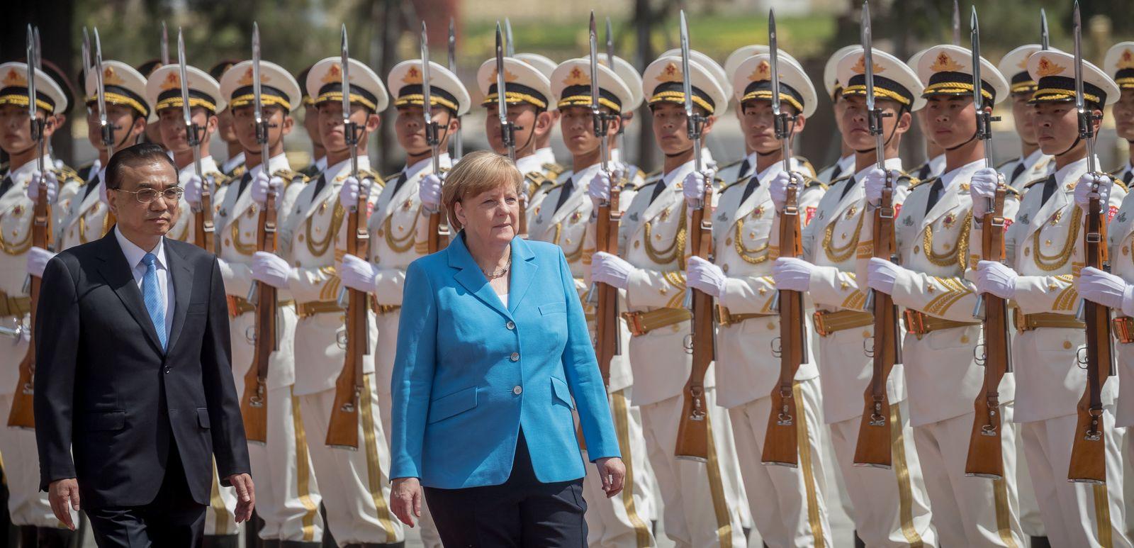 Merkel in China mit Li Keqiang