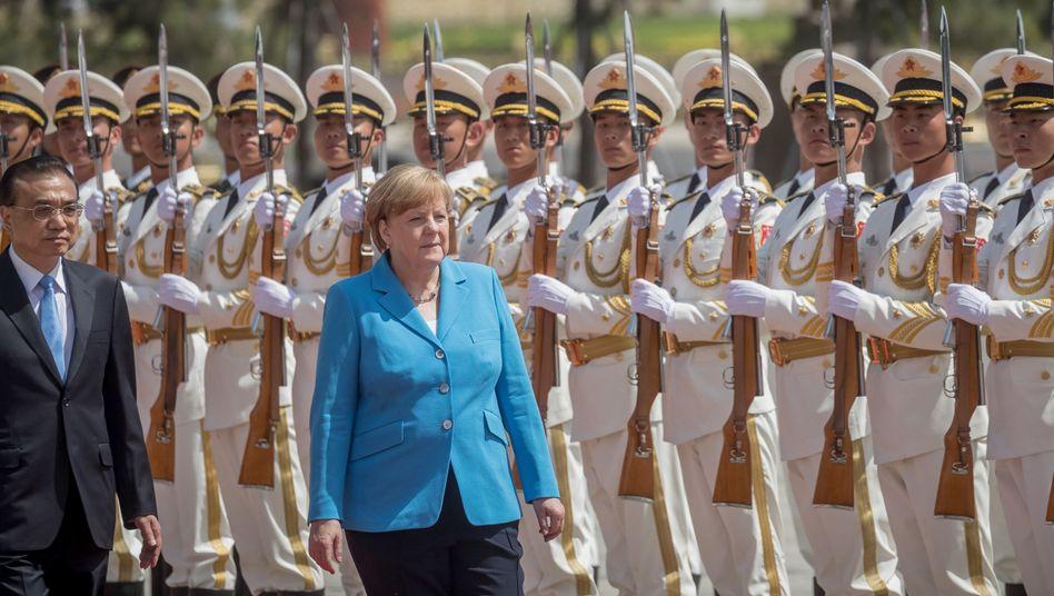 Angela Merkel, chinesischer Ministerpräsident Li Keqiang