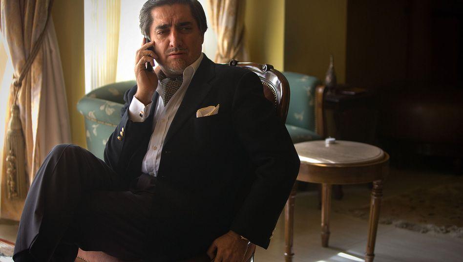Afghan presidential candidate Abdullah Abdullah at his home in Kabul.