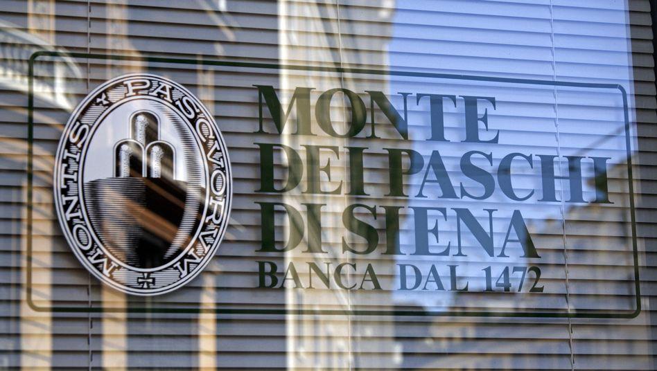 Filiale der italienischen Bank Monte dei Paschi di Siena