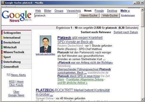 "Google-News-Site: ""Macht nicht unbeobachtet lassen"""
