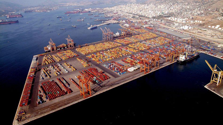 Chinesisches Investitionsziel Hafen von Piräus bei Athen