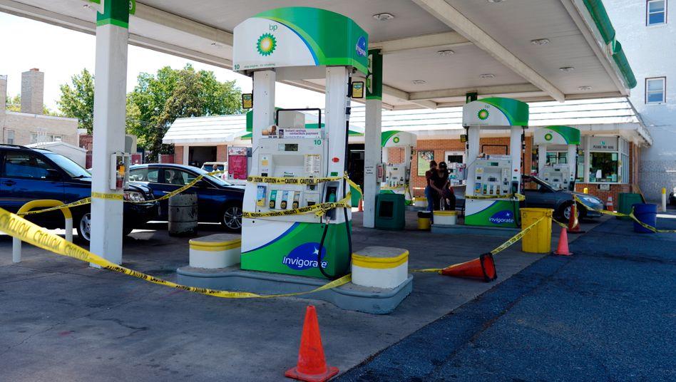 Gesperrte Zapfsäulen in Washington: »Kaufen Sie in den nächsten Tagen nicht mehr Benzin, als Sie brauchen«