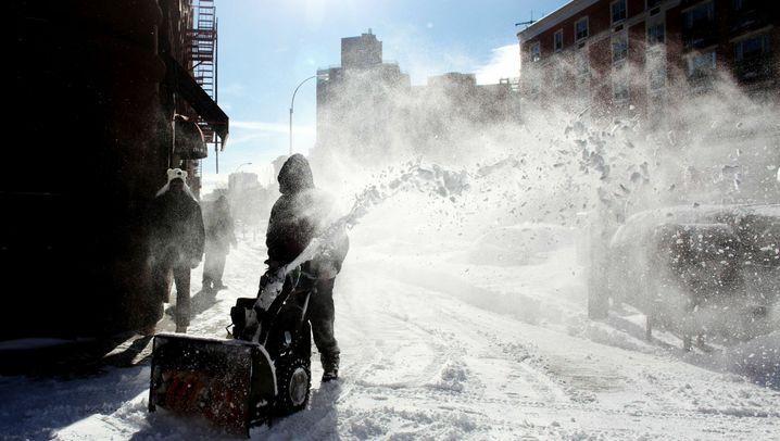 Winter in den USA: Schnee über Manhattan