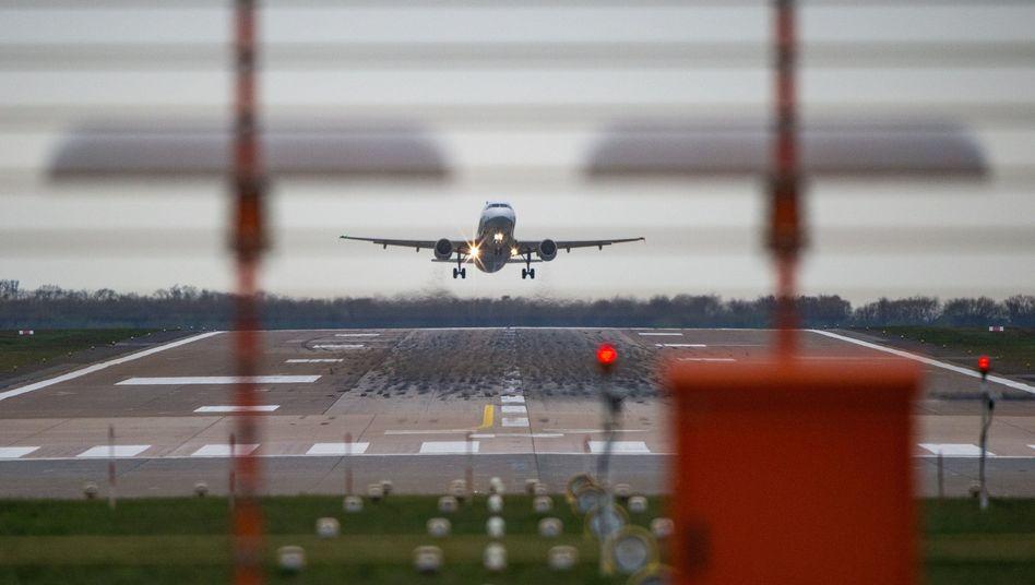 Airbus am Flughafen Hannover-Langenhagen