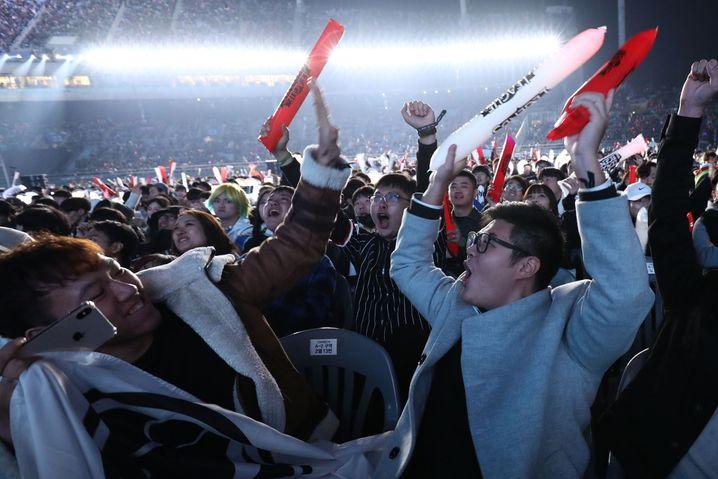 WM-Finale 2018 in Incheon: Südkorea gilt als das Mutterland des Esport, den Markt dominiert jedoch zunehmend China