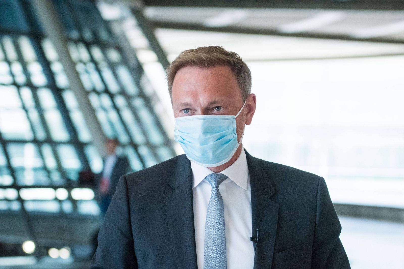 Berlin, Pressekonferenz FDP Fraktion Deutschland, Berlin - 21.04.2020: Im Bild ist Christian Lindner (Bundesvorsitzende
