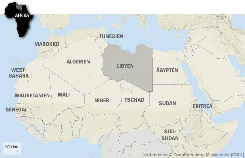 Grafik Karte Libyen IS Afrika