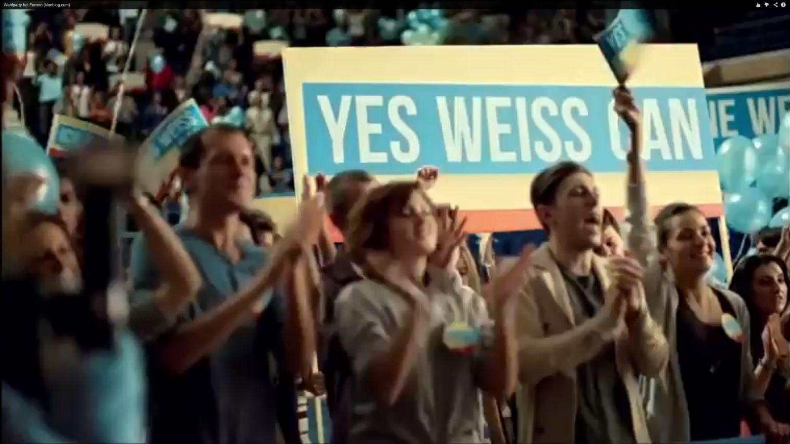 NUR ALS ZITAT Screenshot Ferrero / yes weiss can