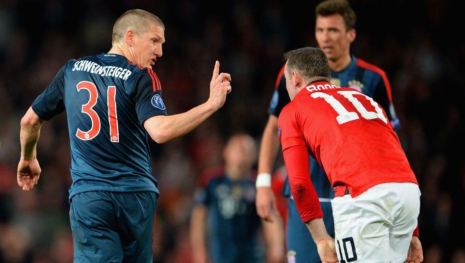 Bayern-Profi Schweinsteiger (l.): Gelb-Rot gegen Manchester