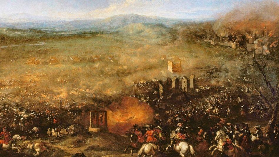 Die Schlacht bei Lützen im November 1632 Ölgemälde, 17. Jahrhundert