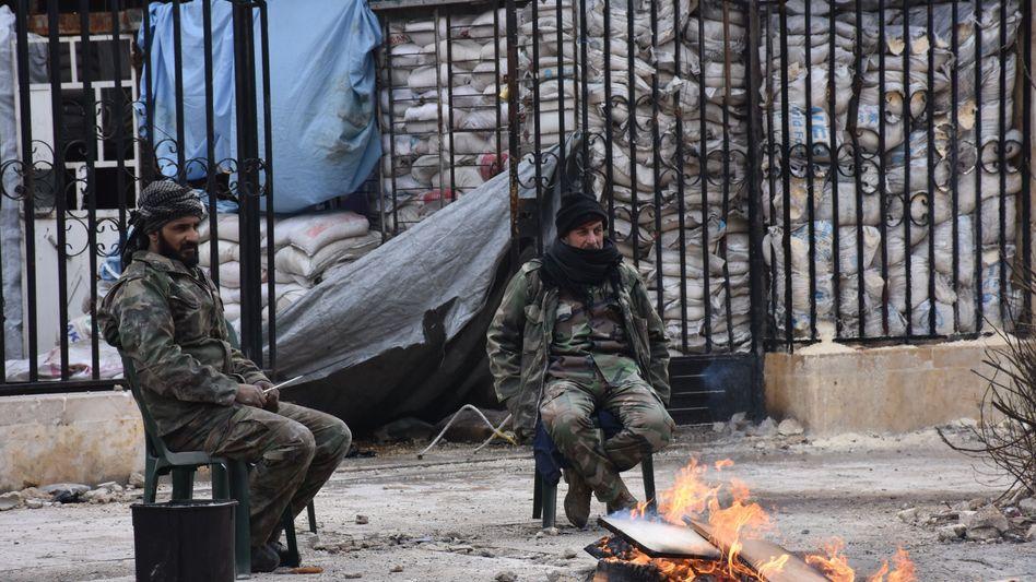 Syrische Soldaten in Aleppo