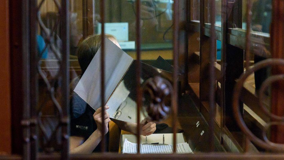André M. im Landgericht Berlin(Archivbild): Unter anderem wegen Störung des öffentlichen Friedens verurteilt