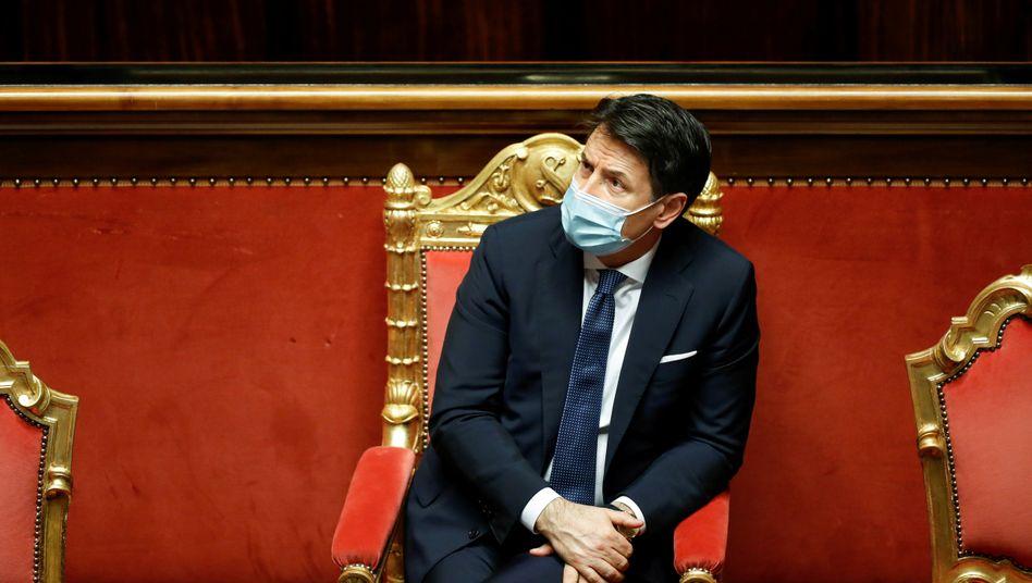 Premier Conte: In Rom ist die Stimmung hochnervös