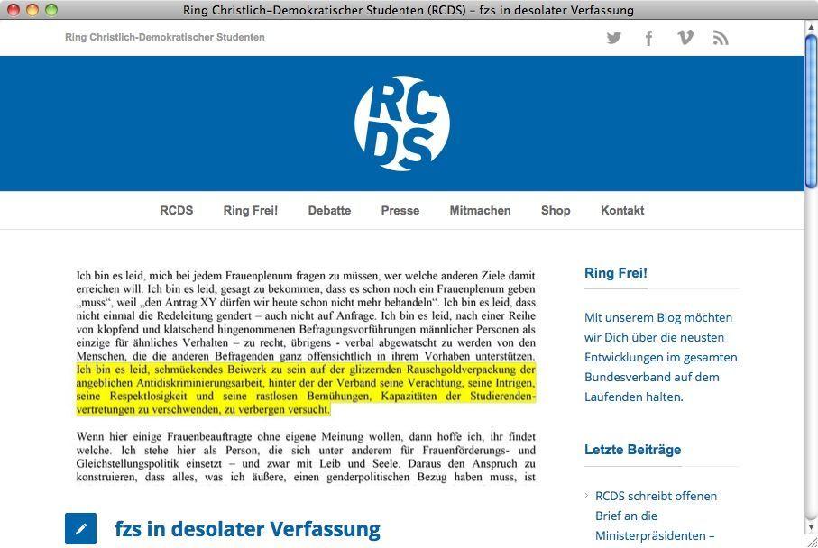 Screenshot RCDS