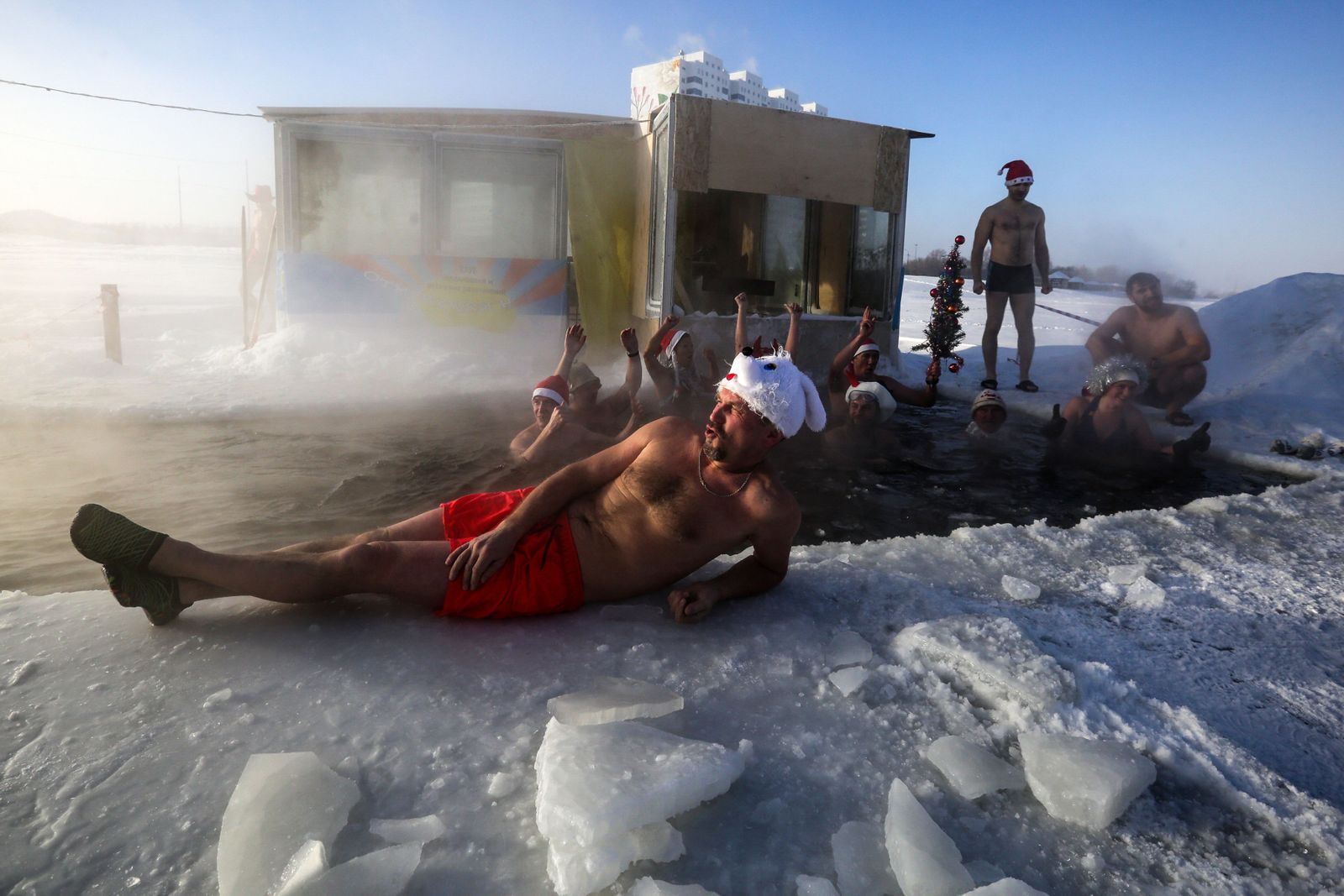 RUSSIA-DAILY LIFE-SWIM-WEATHER-ICE