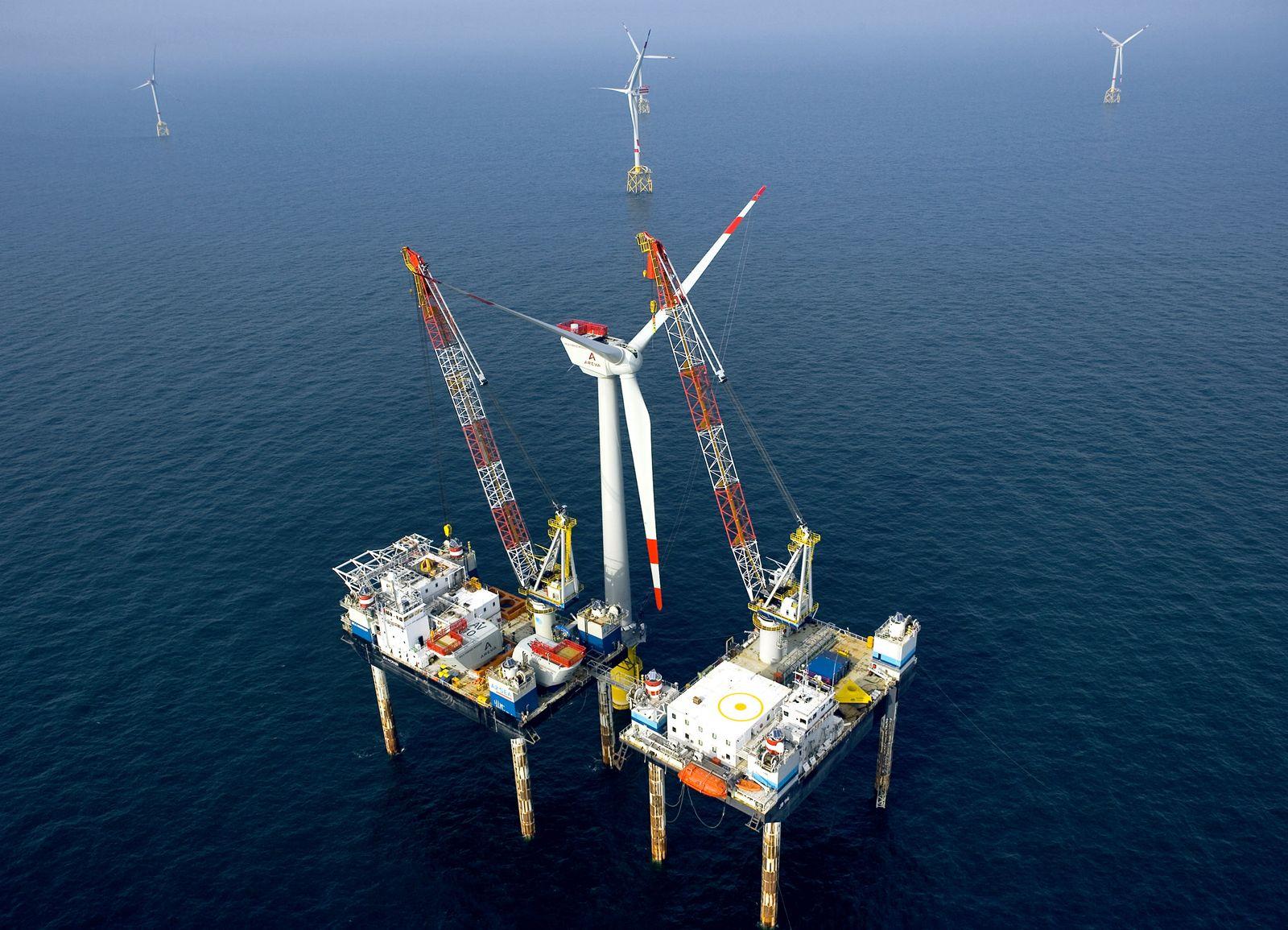 NICHT VERWENDEN Windpark Borkum Windrad Offshore