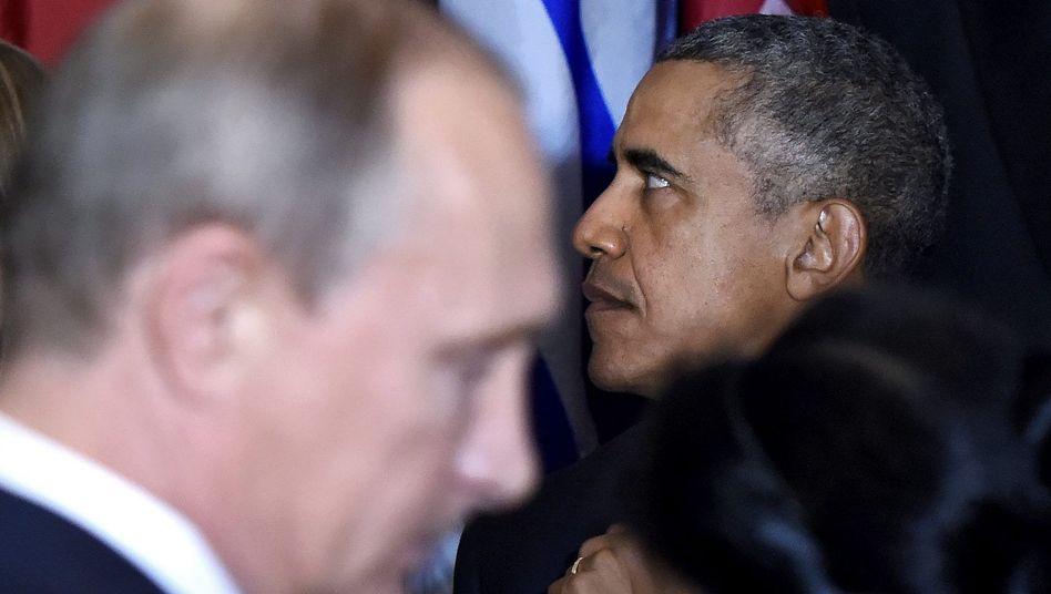 Präsidenten Putin (l.), Obama: Gemeinsamer Kurs? Fehlanzeige!