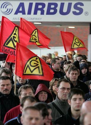 Proteste bei Airbus in Nordenham: Keiner will als halbherzig gelten
