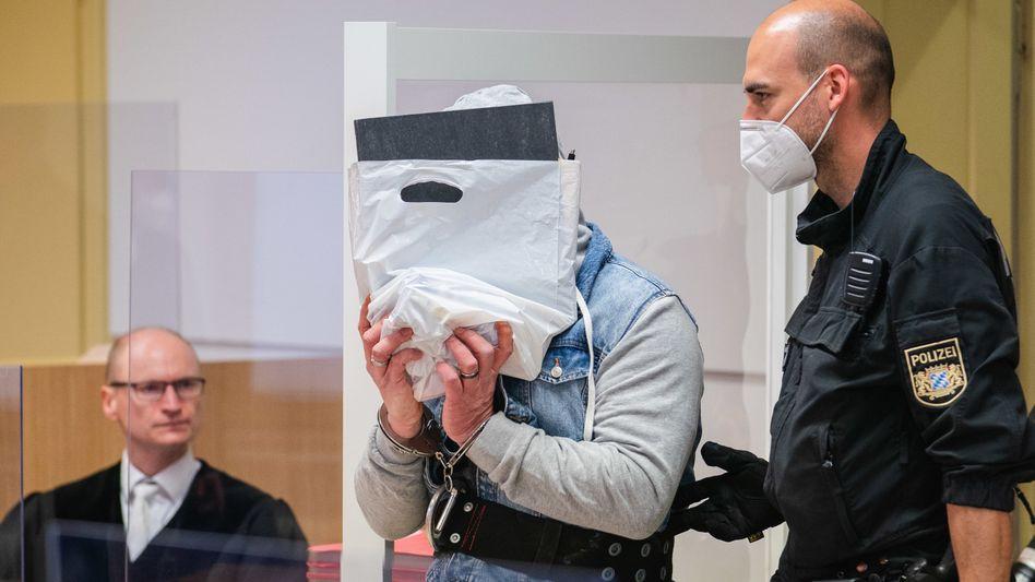 Angeklagter im Landgericht Schweinfurt