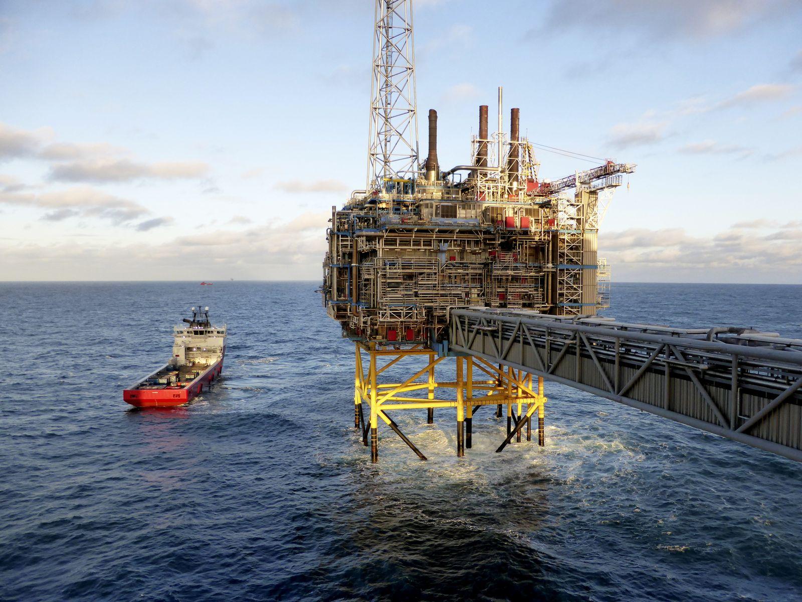 Norwegen/ Öl / Ölbohrinsel