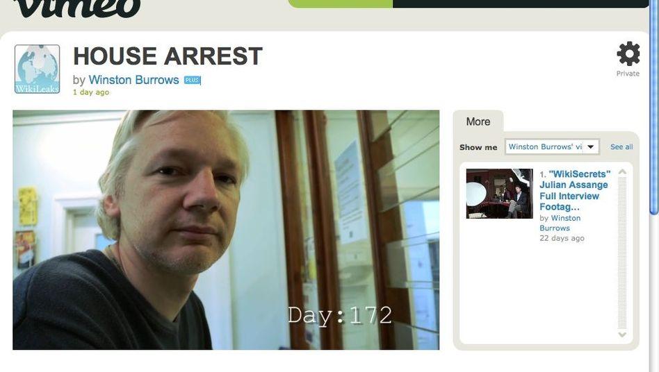WikiLeaks-Gründer Assange: Video-Botschaft an die Unterstützer
