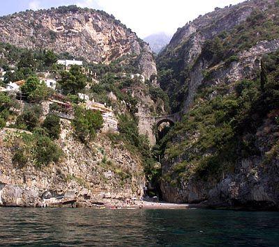 Schröders Badeplatz, ein kleiner Strand zwischen Felsen
