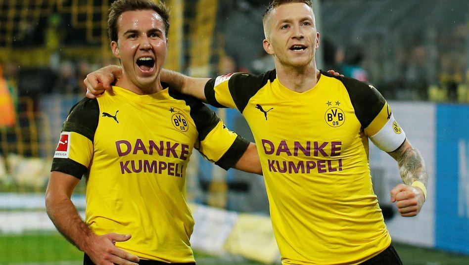 BVB-Spieler Mario Götze (links) und Marco Reus