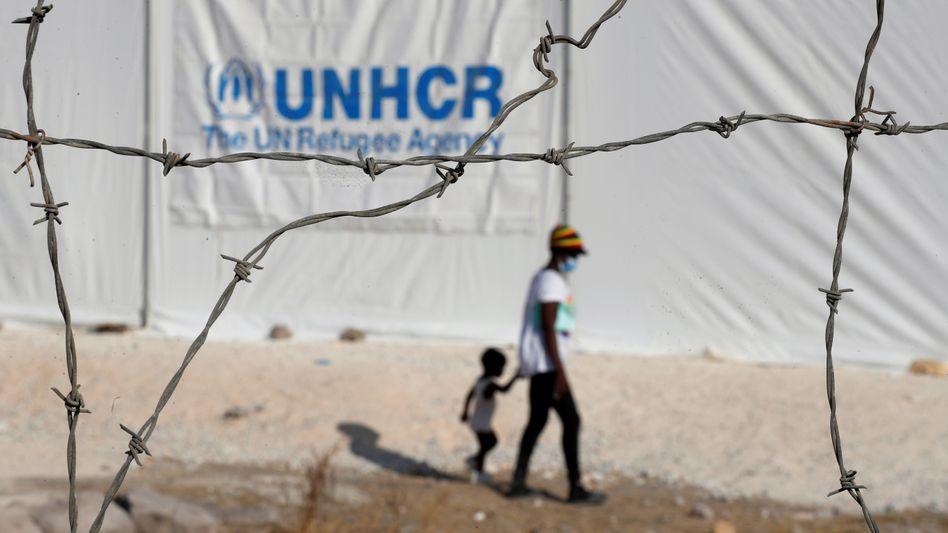 Migranten im neuen Lager auf Lesbos (am 23. September): Traum von einem Leben in der EU