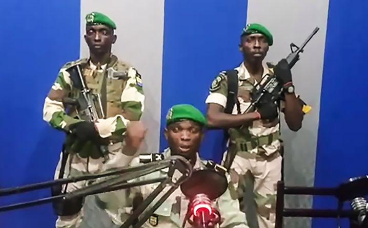 Screenshot aus dem Putschvideo der Militärs