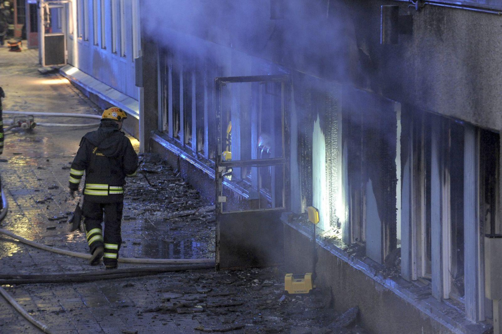 Schweden/Moschee/Feuer