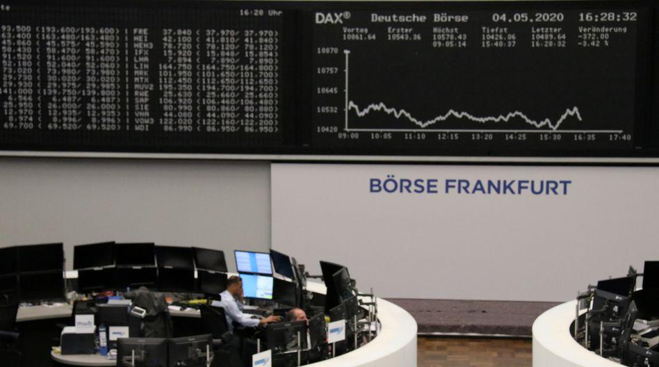 Kursverlauf an der Frankfurter Börse: Das Coronavirus und internationale Spannungen belasten den Dax