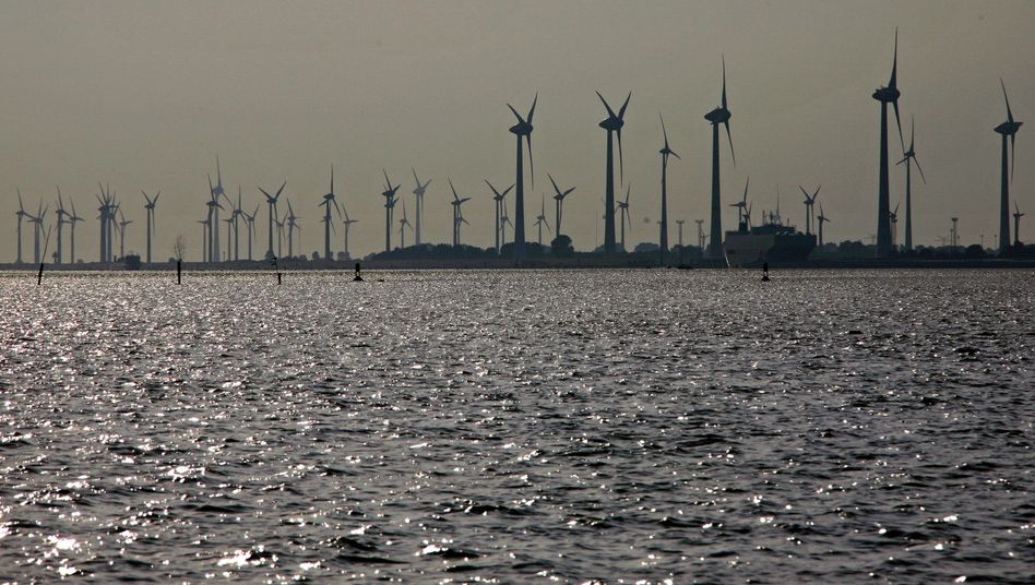 A German wind farm in the North Sea.