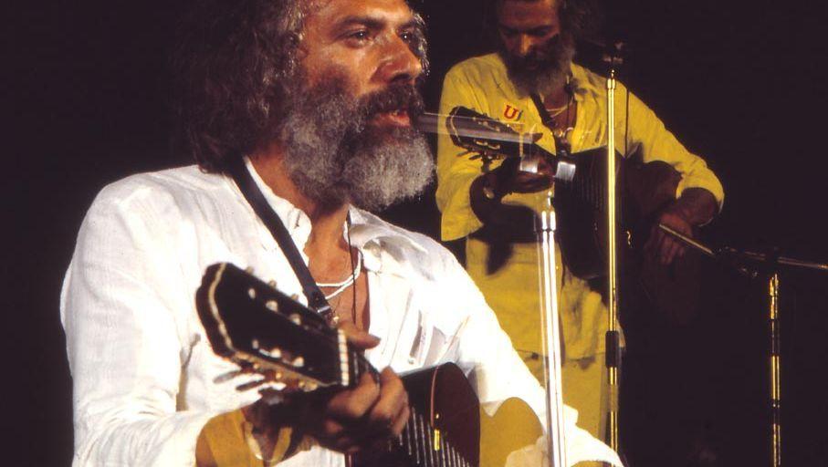 Georges Moustaki im Jahr 1981 bei einem Auftritt in Spanien