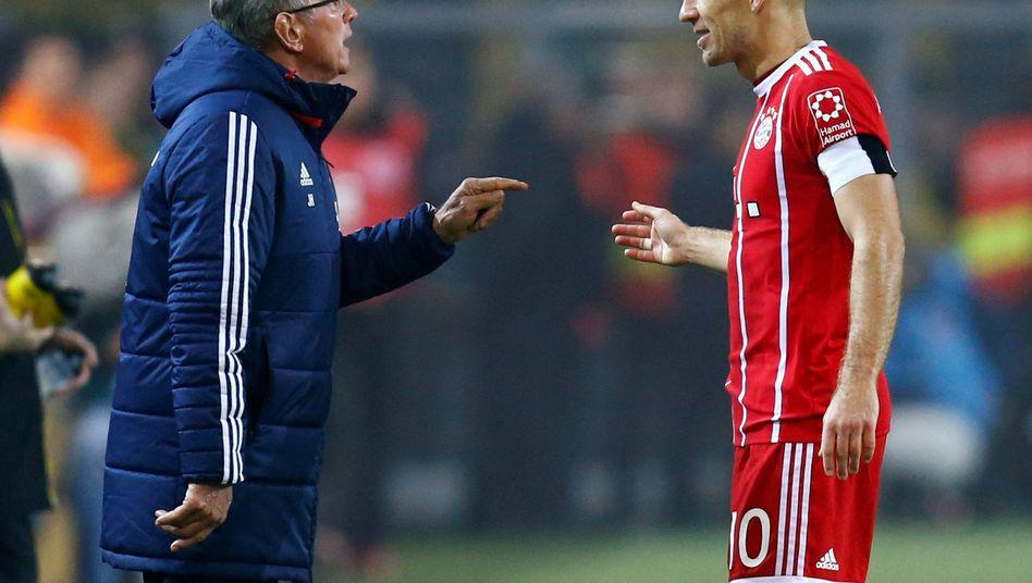 Jupp Heynckes (l.), Arjen Robben