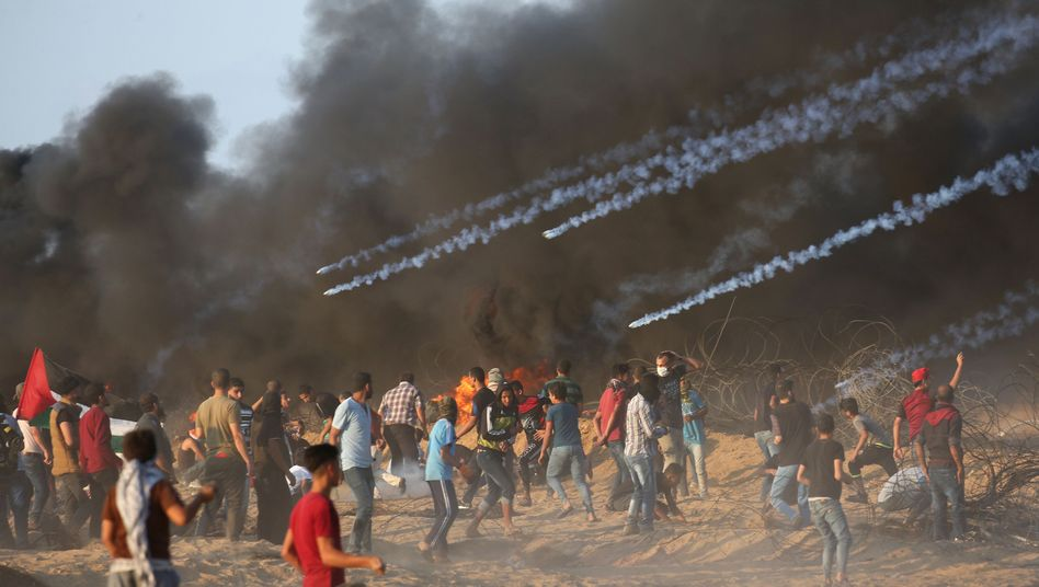 Proteste am Gazastreifen