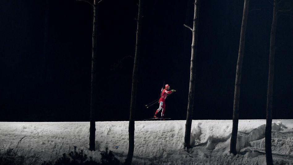 Biathlet bei den Winterspielen in Pyeongchang 2018