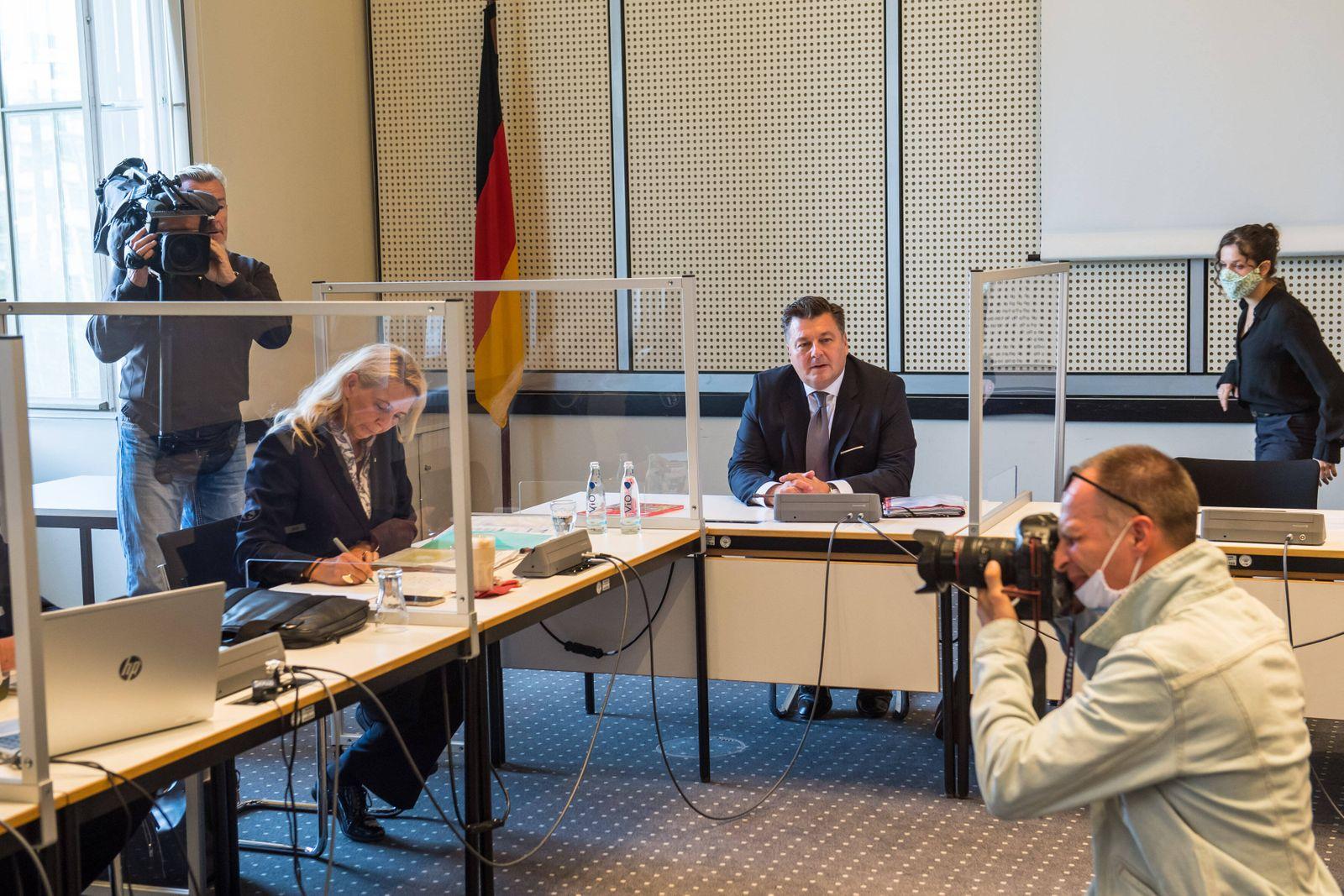 Politik Berlin Innenausschuss Sitzung des Innenausschuss des Berliner Abgeordnetenhaus am Montag den 31. August 2020. Wi