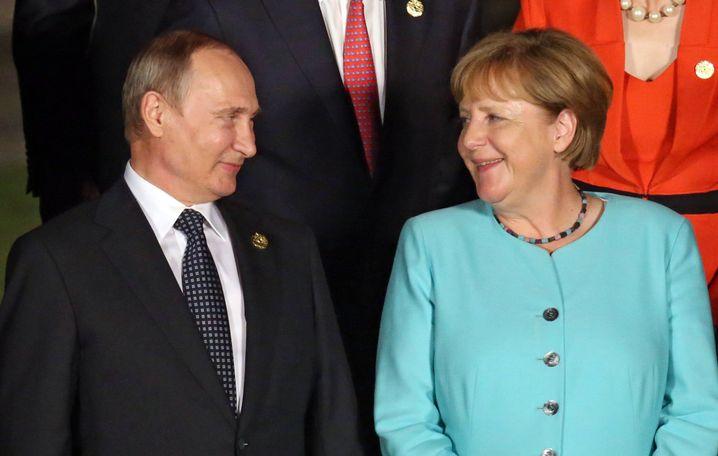 Putin und Merkel auf dem G-20.Gipfel im September 2016 im chinesischen Hangzhou