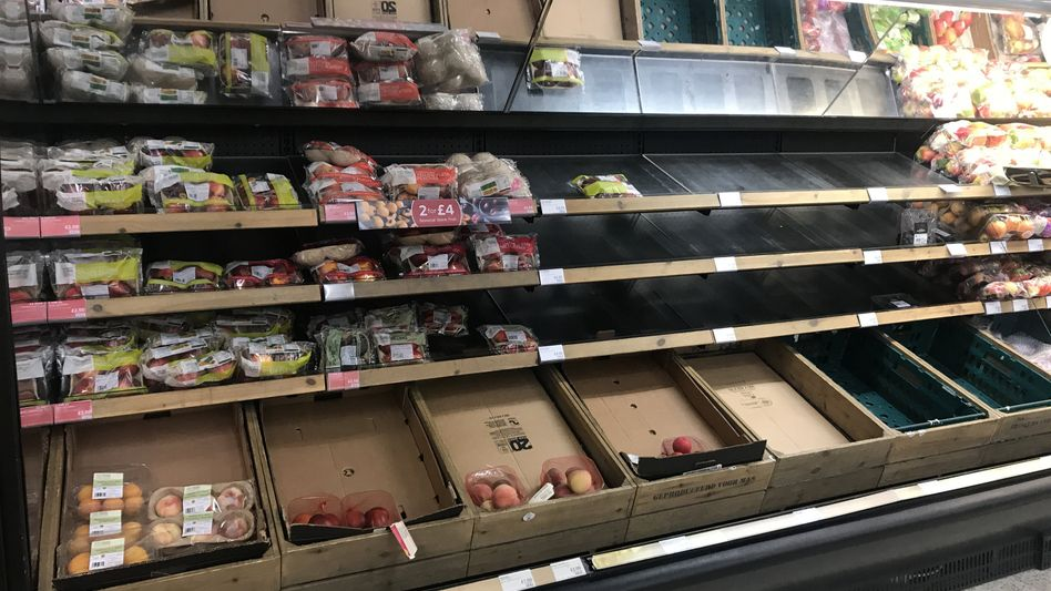 Nicht alles vorrätig in einem Supermarkt im nordirischen Belfast (Archivfoto)