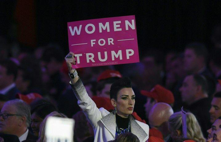 Trump-Unterstützerin in der Wahlnacht in New York