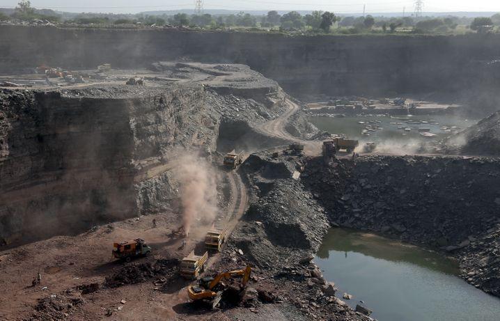 Mine in Rajasthan: Die ganze Region lebt vom Sandstein