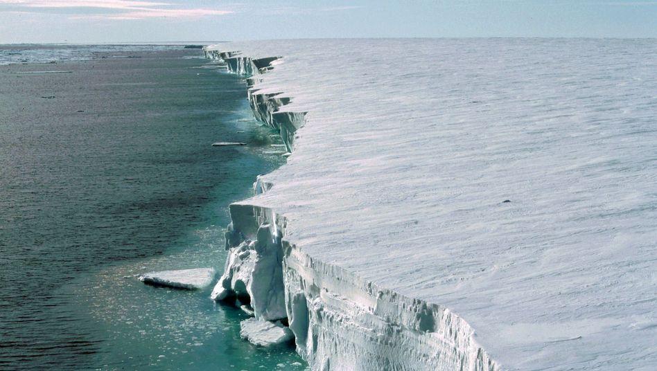Eiswand (Archivbild): Die Kante des Filchner-Ronne-Schelfeises im Weddell-Meer